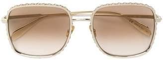 Alexander McQueen Eyewear oversized encrusted sunglasses