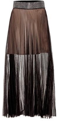 Christopher Kane Embellished tulle skirt