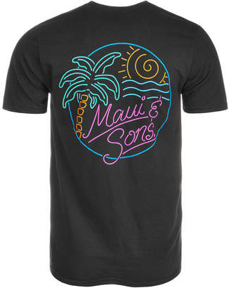 Maui and Sons Men's Neon Graphic-Print T-Shirt