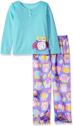Komar Kids Girls' Big Girls' Dotty Owl 2pc Sleepwear Set
