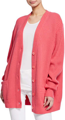 Michael Kors Cashmere Oversized Ribbed Cardigan