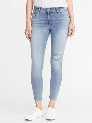 Old Navy Mid-Rise Rockstar Super Skinny Distressed Ankle Jeans for Women