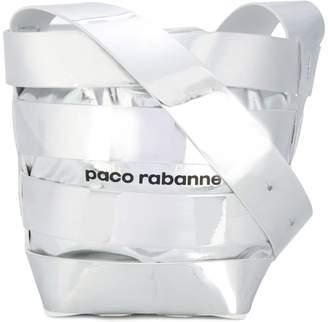 Paco Rabanne metallic stripe shoulder bag