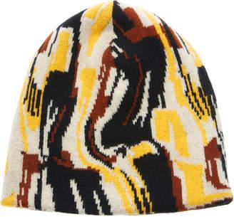 Prada Logo Intarsia-Knit Beanie