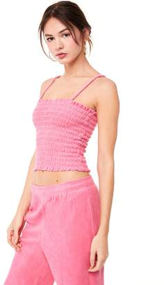 Juicy Couture Microterry Smocked Cami Top