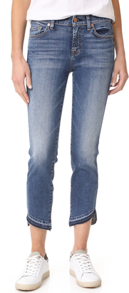 7 For All Mankind Roxanne Ankle Jeans with Released Hem $209 thestylecure.com