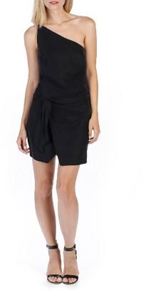 Women's Rosie Hw X Paige Judy One-Shoulder Dress $238 thestylecure.com