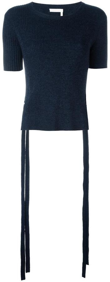 See by Chloe ribbed side tiero top