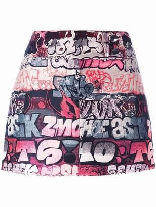 Giamba printed mini skirt