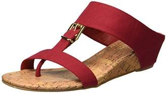 Rampage Women's Senorita Cork Demi T-Strap Thong Wedge Sandal