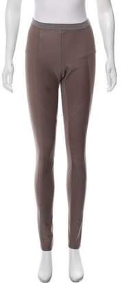 Ilaria Nistri Leather-Accented Mid-Rise Leggings