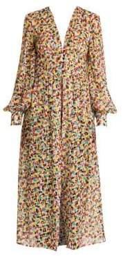 ATTICO Spotted Print Cher Robe Dress