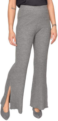 Moon River Knit Flare Pants