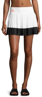 adidas by Stella McCartney Pleated Performance Tennis Skirt, White/Black $70 thestylecure.com