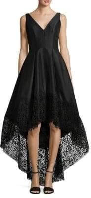 Betsy & Adam Hi-Lo Taffeta Dress