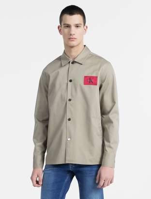 Calvin Klein cotton twill shirt jacket