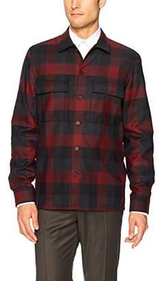 Theory Men's Buffalo Plaid Shirt Jacket