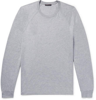 James Perse Mélange Cotton And Cashmere-Blend Sweater