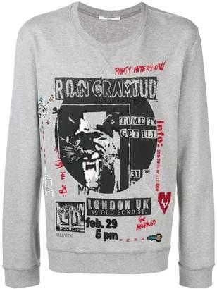 Valentino concert print sweatshirt