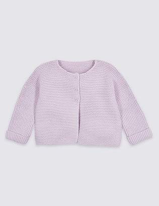 Marks and Spencer Pure Cotton Lightweight Knitted Cardigan