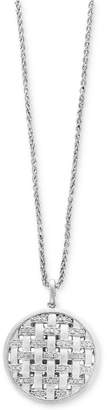 Effy Balissima by Diamond Weave Disc Pendant Necklace (1/4 ct. t.w.) in Sterling Silver