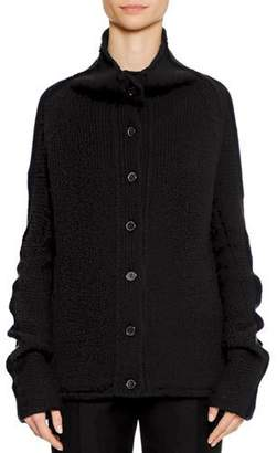 Jil Sander Button-Front 3-Gauge Cashmere Cardigan Sweater
