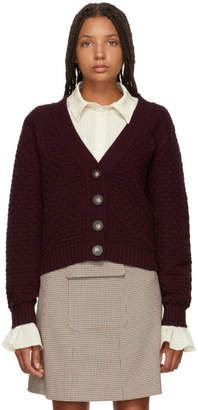 See by Chloe Burgundy Cotton Cardigan