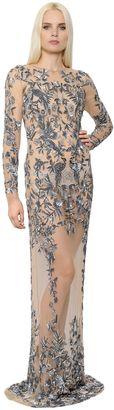 Floral & Birds Embellished Tulle Dress $10,577 thestylecure.com