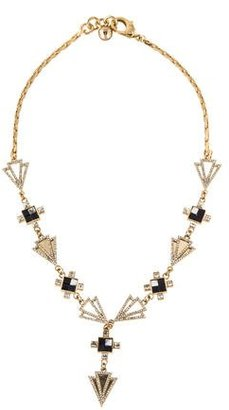 Lulu Frost Crystal & Stone Mosaic Terraced Necklace $125 thestylecure.com