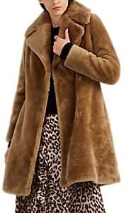 Barneys New York Women's Lamb Fur Coat - Brown