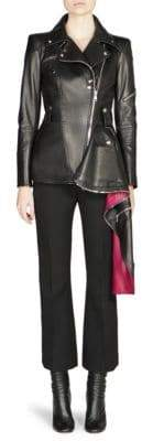 Alexander McQueen Asymmetrical Leather Biker Jacket