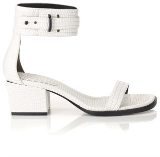 3.1 Phillip Lim Optic White Leather Coco Sandals