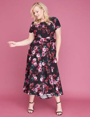 Lane Bryant Belted High-Low Maxi Dress