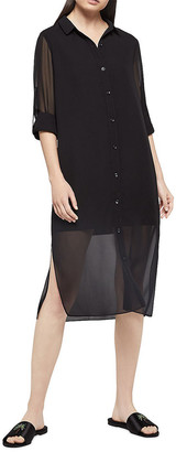 BCBGeneration Long-Sleeve Chiffon Shirtdress