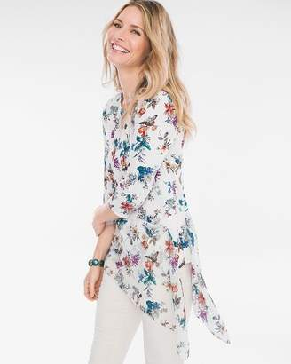 Chico's Chicos Asymmetrical Floral Tunic