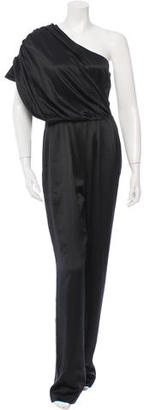 Derek Lam Silk One-Shoulder Jumpsuit $125 thestylecure.com
