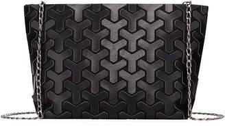Patrizia Luca Y Pattern Geometric Tiled Clutch Bag