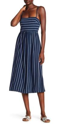 BCBGMAXAZRIA Back Twist Stripe Knit Dress