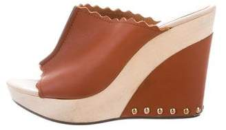 See by Chloe Leather Scalloped Wedges