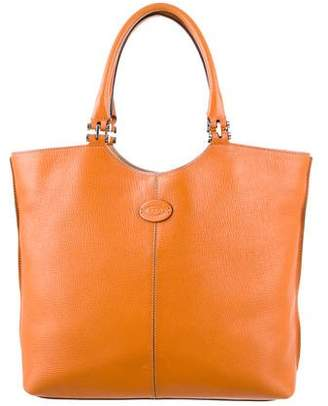 Tod's Leather Logo Tote