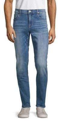 Patterned Skinny-Fit Jeans