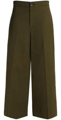Joseph Wool-Blend Twill Wide-Leg Pants