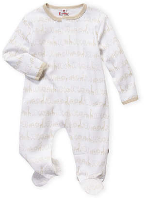 Magnificent Baby Newborn Girls) Ivory Animal Print Footie