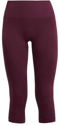 Pepper & Mayne - Margot Cropped Rib Knit Leggings - Womens - Dark Purple