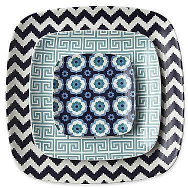 Jonathan Adler Set of 3 Ceramic Nesting Trays