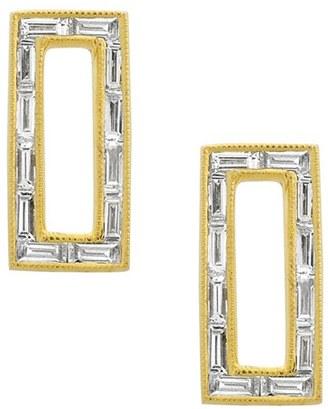 Women's Bony Levy Baguette Diamond Rectangle Stud Earrings (Nordstrom Exclusive) $2,195 thestylecure.com