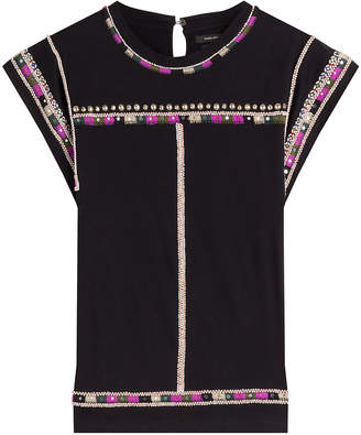 Isabel Marant Embellished and Embroidered Cotton Top
