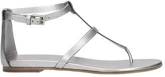 Roberto Del Carlo Silver Leather Flip-flop Sandal