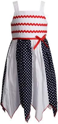 Youngland Girls 4-6x Handkerchief Hem Patriotic Woven Dress