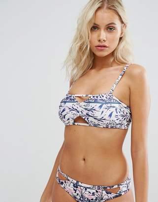MinkPink Paisley Keyhole Bandeau Bikini Top